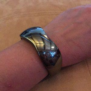 """Jewelry - 🖤 7"""" CHUNKY BLACK MIRRORED BRACELET"""